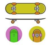 Icônes de planche à roulettes Image stock