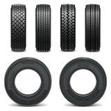 Icônes de pneu de vecteur Photographie stock libre de droits