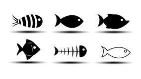 Icônes de poissons Image libre de droits