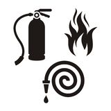 Icônes de pompier illustration stock