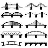 Icônes de pont réglées Photographie stock