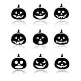 Icônes de potiron de Halloween Images libres de droits