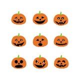 Icônes de potiron de Halloween Image stock