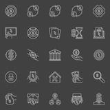 Icônes de prêt et de crédit-bail Photos libres de droits