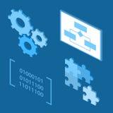 Icônes de processus de cycle de vie de développement de logiciel Image stock