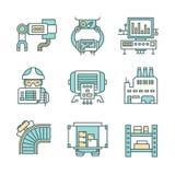 Icônes de processus de fabrication illustration de vecteur
