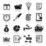 Icônes de productivité Photographie stock