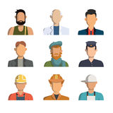 Icônes de professions Images stock