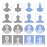Icônes de profil Photos libres de droits