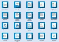Icônes de proposition d'affaires Images stock