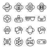 Icônes de réalité virtuelle Photo libre de droits