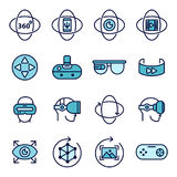 Icônes de réalité virtuelle Photographie stock