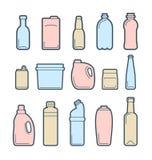 Icônes de récipient de boisson Image libre de droits