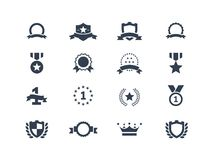 Icônes de récompense illustration stock