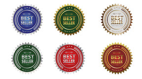 Icônes de récompense du best-seller photo libre de droits