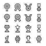 Icônes de récompense et de trophée Image stock