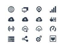 Icônes de réseau illustration de vecteur