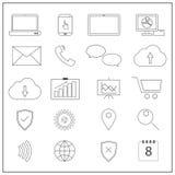 Icônes de réseau informatique illustration stock