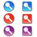 Icônes de recherche illustration de vecteur