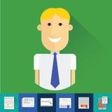 icônes de recherche d'emploi Images stock