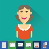 icônes de recherche d'emploi Image libre de droits