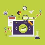 Icônes de recherche de marché Image stock