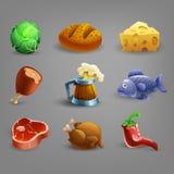Icônes de ressource pour des jeux illustration stock