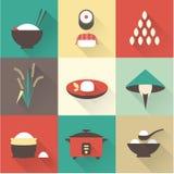 Icônes de riz Photos stock