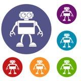 Icônes de robot d'Android réglées Image stock