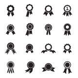 Icônes de rosette d'isolement sur un fond blanc Illustration Libre de Droits