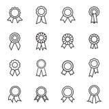 Icônes de rosette Illustration linéaire de vecteur Illustration Libre de Droits