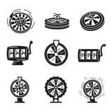 Ic?nes de roulette r?gl?es, style simple illustration stock