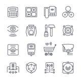 Icônes de sécurité Photographie stock libre de droits