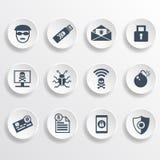 Icônes de sécurité Images stock
