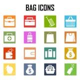 Icônes de sac réglées Images libres de droits
