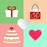 Icônes de Saint-Valentin Photos stock