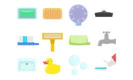 Icônes de salle de bains Image stock