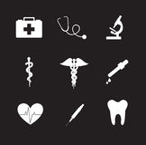 Icônes de santé Photographie stock