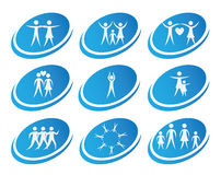 Icônes de santé Image libre de droits