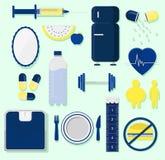 Icônes de santé illustration stock