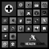 Icônes de santé Photo libre de droits