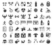Icônes de santé et de forme physique Photographie stock
