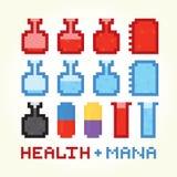 Icônes de santé et de mana Photos libres de droits
