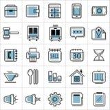 Icônes 001 de schéma Photographie stock