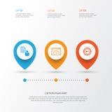 Icônes de SEO réglées Collection de rapport, de marketing de mot-clé, de vitesse de chargement et d'autres éléments Inclut égalem Photos libres de droits