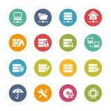 Icônes de serveur -- Série fraîche de couleurs Photographie stock