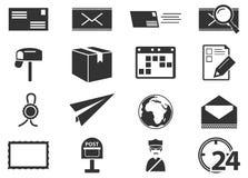 Icônes de service de courrier réglées Photo libre de droits