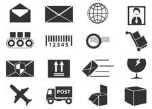 Icônes de service de courrier réglées Photographie stock