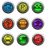 Icônes de services de taxi réglées Image stock