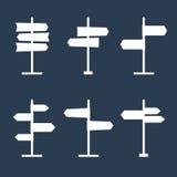 Icônes de silhouette de panneaux routiers réglées illustration stock